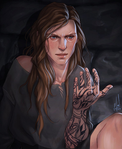 A court of thorns and roses series wallpaper entitled feyre s tattoo by merwild