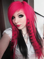 german scene queen emo girl ira vampira pink blue purple black hair emo 30671727 900 1200 - emo photo