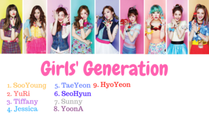 girls generation members