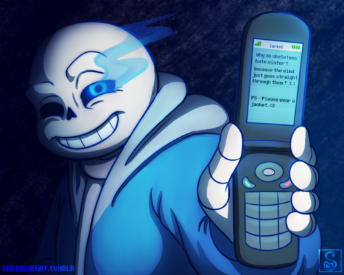 Sans (Undertale) Обои entitled i thought of that joke first...