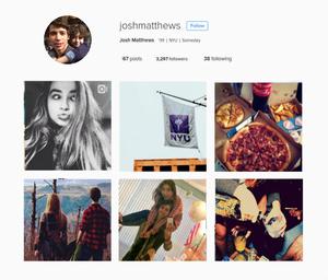 instagram aesthetics- joshua matthews