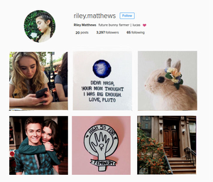 instagram aesthetics- riley matthews
