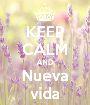 keep calm and nueva vida