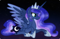 luna at starry night sky - princess-luna fan art