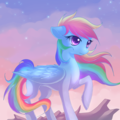 on the top - rainbow-dash fan art