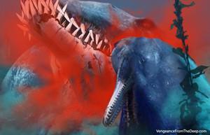 pliosaur bisecting ikan paus