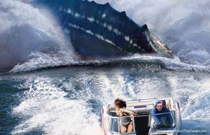 pliosaur chasing barco