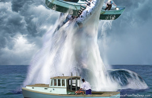 pliosaur crushing boat
