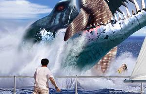 pliosaur whaleshark attack