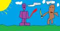 power ranger purple fight - the-power-rangers fan art