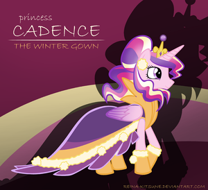princess cadence the winter ガウン