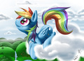 rd looking to the sky - rainbow-dash fan art