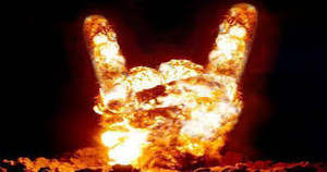 rock on explosion