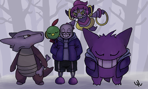 sans  team   undertale x pokemon by yamimidna d9tb696