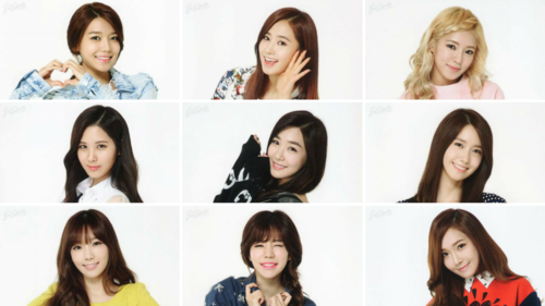 Girl's Generation/SNSD karatasi la kupamba ukuta containing a portrait entitled snsd members