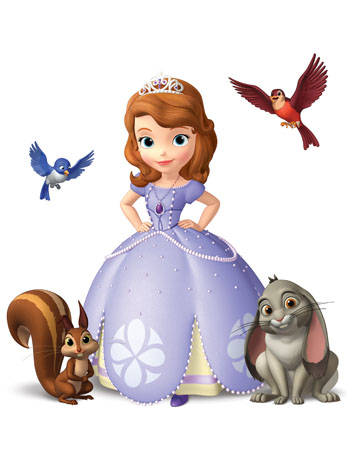 Sofia The First kertas dinding titled sofia the first characters a p