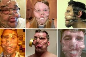 taped up face হাঃ হাঃ হাঃ