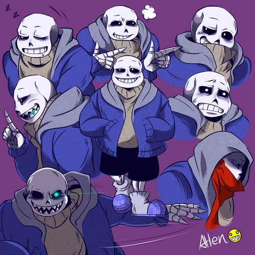 Sans (Undertale) Обои containing Аниме titled undertale sans06 by k125125123 d9h4ceq