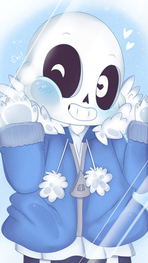 undertale smartphone wallpaper   chibi sans by togeticisa d9z3y2u