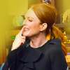 Julianne Moore photo with a portrait titled yellow julianne moore