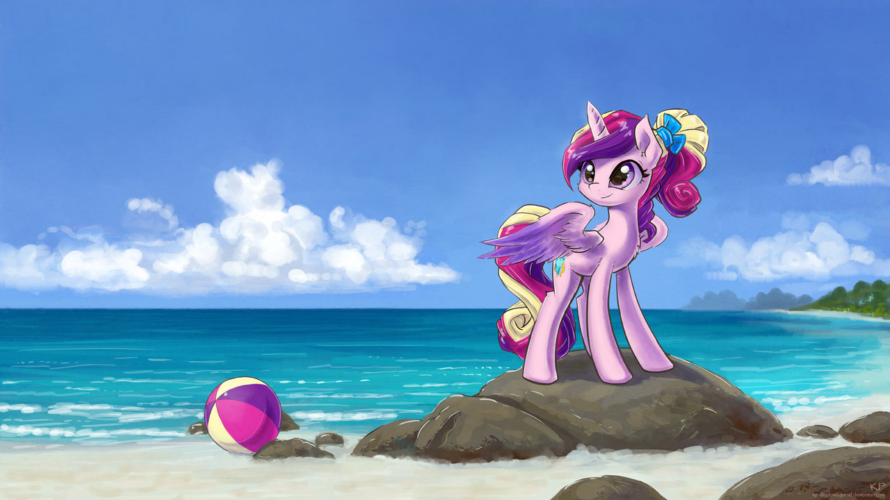 young cadance at the beach