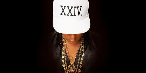 "Bruno Mars wolpeyper possibly containing a fedora, a boater, and a takip titled ""24k magic"" cover"