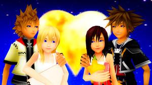. Sora x Kairi and Roxas and Namine Macaria Sama edited