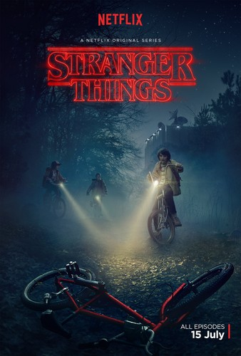 Stranger Things achtergrond possibly containing anime entitled 'Stranger Things' Promotional Poster