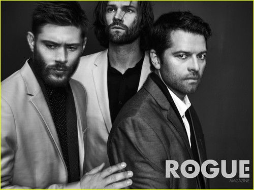 Сверхъестественное Обои containing a business suit and a suit called 'Supernatural' Cast Rogue Magazine Photoshoot