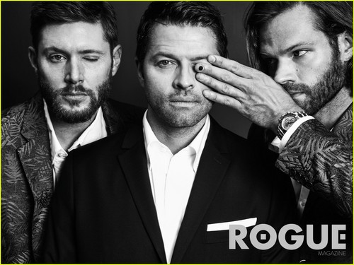 Supernatural wolpeyper containing a business suit entitled 'Supernatural' Cast Rogue Magazine Photoshoot