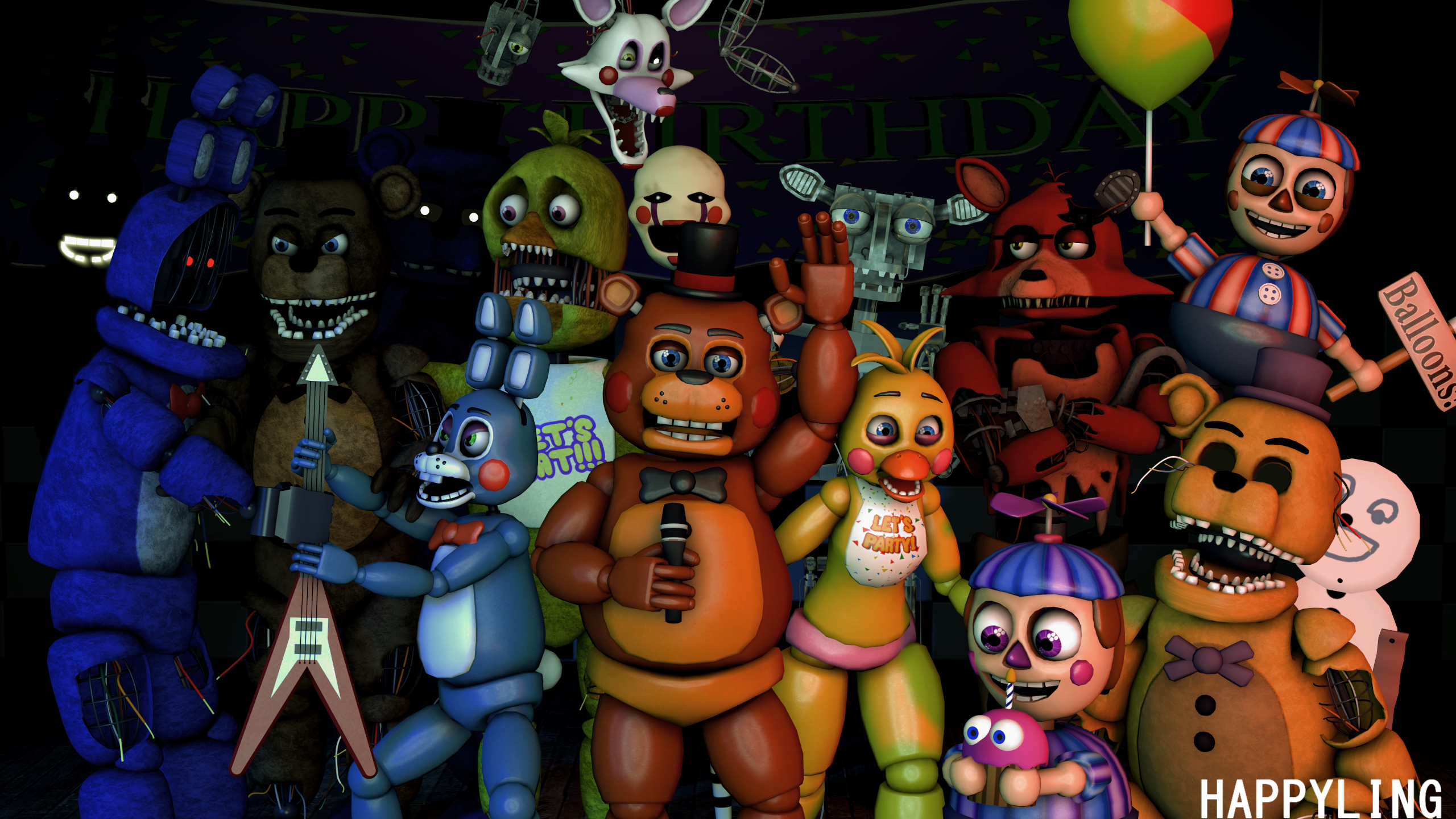 sfm fnaf  five nights at freddy s 2 by happyling d97yydn