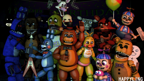 Five Nights at Freddy's پیپر وال titled sfm fnaf five nights at freddy s 2 سے طرف کی happyling d97yydn