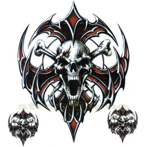tribal skull crossbones
