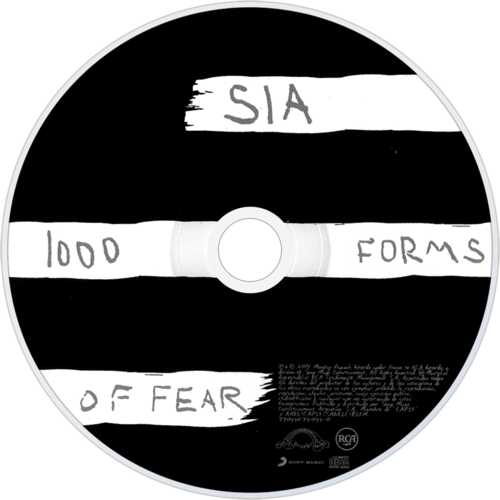 Sia wallpaper probably containing a turntable, meja putar and a compact disk called 1000 forms of fear - CD art
