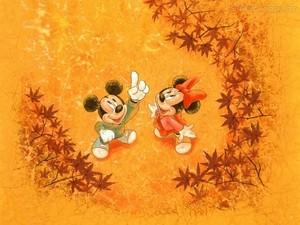 270528 Papel de Parede Minnie e Mickey мышь 1024x768