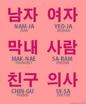 A few Korean words