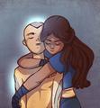 Aang and Katara - avatar-the-last-airbender fan art