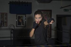 Adriana Lima boxing