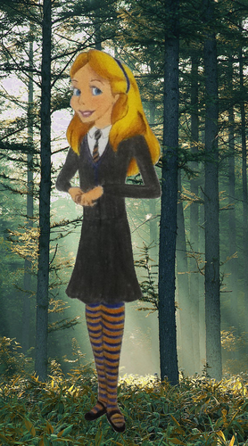 Childhood Animated Movie Characters wallpaper titled Alice in Ravenclaw