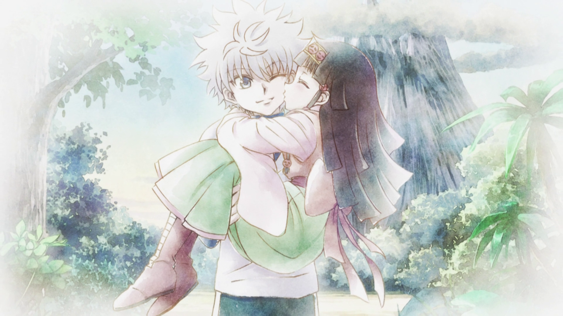 Alluka Kiss killua cheek