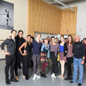 Amy Acker and the Nutcracker Ballet Crew