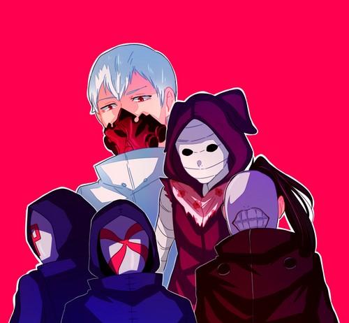 Tokyo Ghoul karatasi la kupamba ukuta titled Aogiri mti
