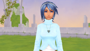 Aqua is the Casual Keyblade Master Outfit.