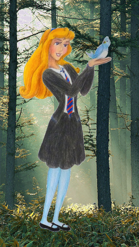 Childhood Animated Movie Characters Обои entitled Aurora in Ravenclaw
