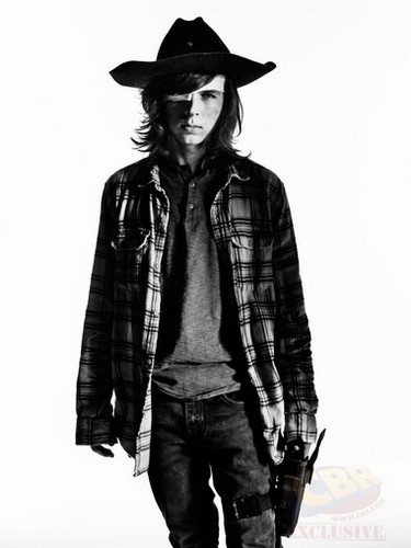 The Walking dead wallpaper containing a fedora and a boater titled Character Portrait #2 ~ Carl Grimes
