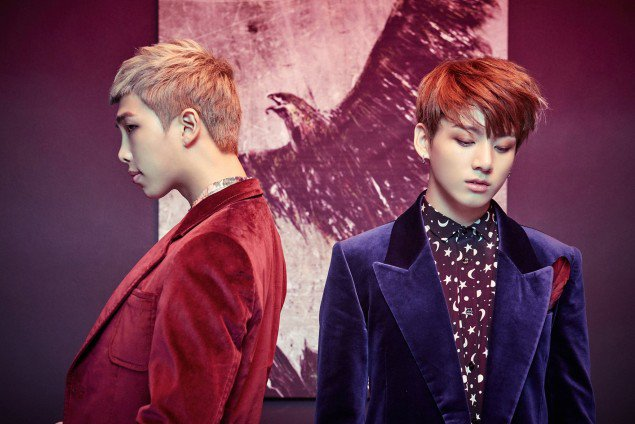 बी टी एस drops concept चित्रो of Rap Monster and Jungkook for 'Wings' comeback