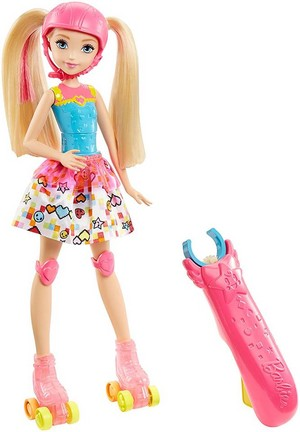 Barbie: Video Game Hero Light Up Skates búp bê barbie Doll