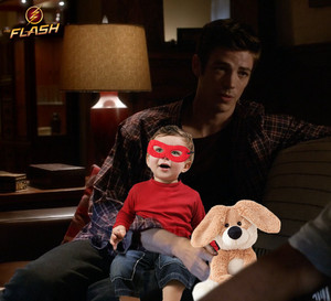 "Barry Allen with ""his kid"""