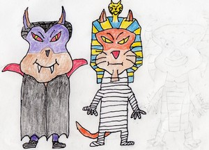 Batcula and The Mummy Cat