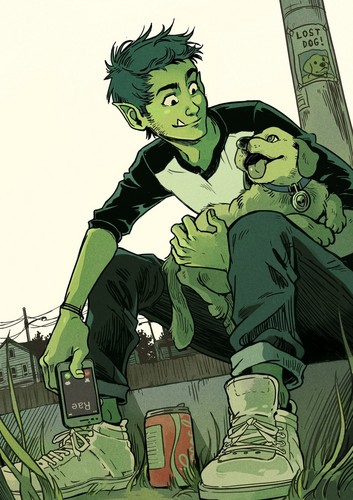 Teen Titans - les jeunes titans karatasi la kupamba ukuta containing anime called Beast Boy Fanart